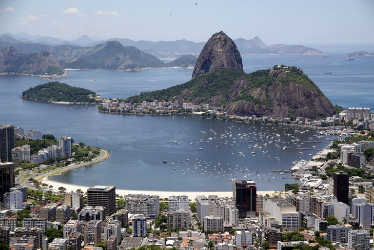 Rio, as seen from a helicopter