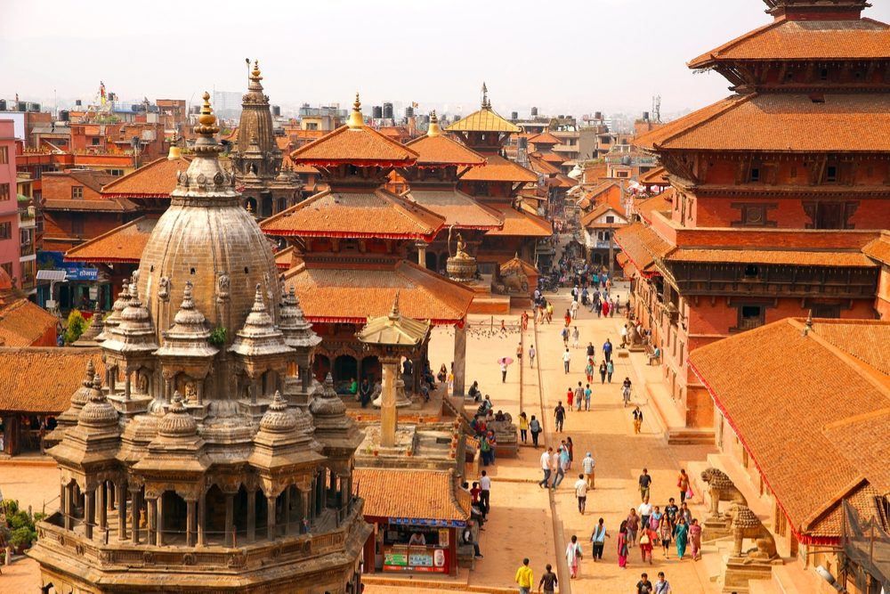 Durbar Square in Patan village Nepal
