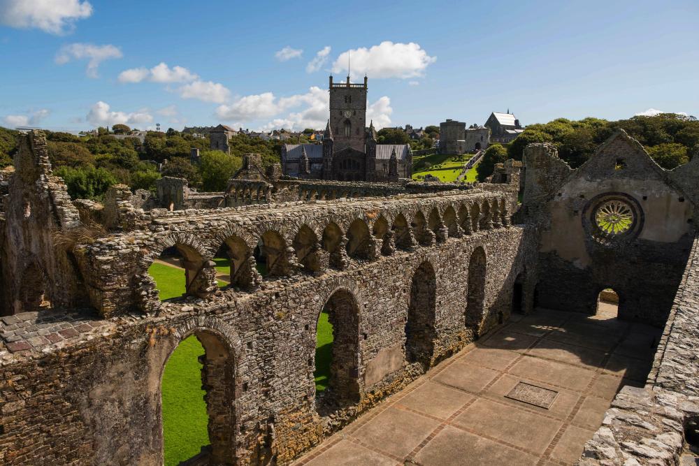 St. Davids castle ruins West Wales