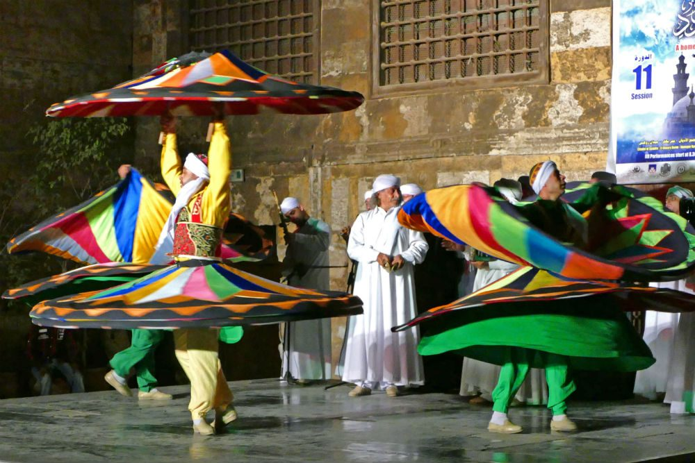 Whirling dervishes performance in Cairo Egypt