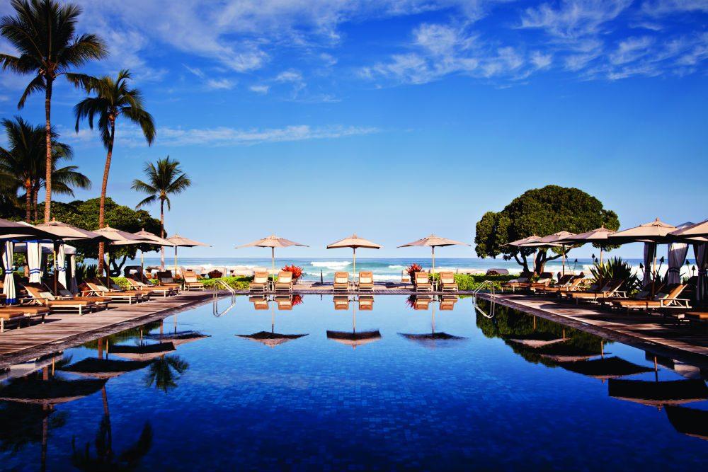 Four Seasons Hualalai pool Hawaii