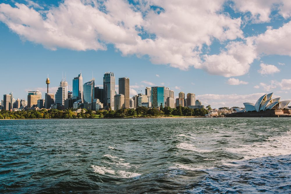Views of the Sydney Harbour skyline from the Manly Ferry, Australia
