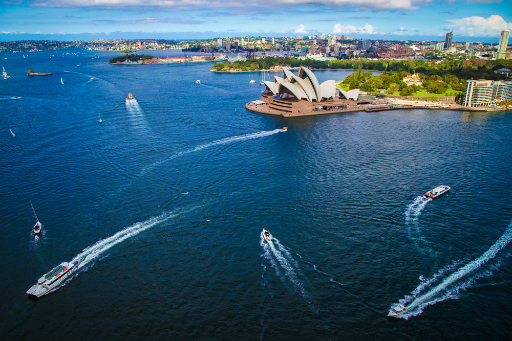 View of Sydney from the Harbour BridgeClimb Australia