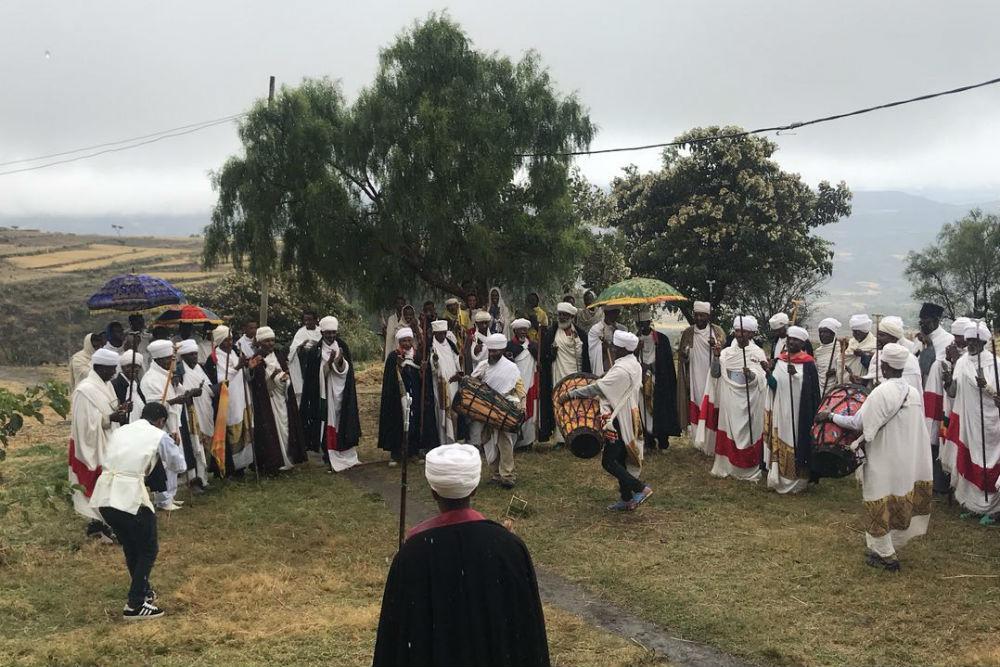 Ethiopian religious ceremony