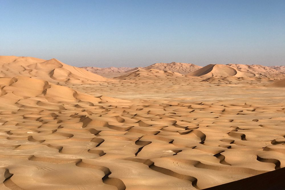 dunes of Rub' Al Khali desert or Empty Quarter of Oman