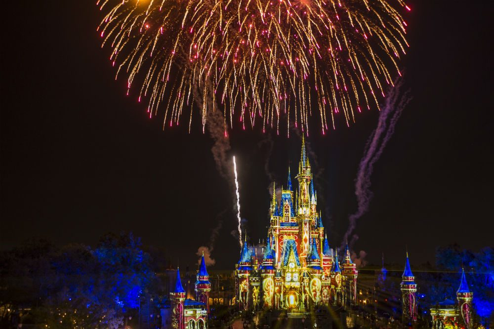 Happily Ever After fireworks over the castle at Disney World