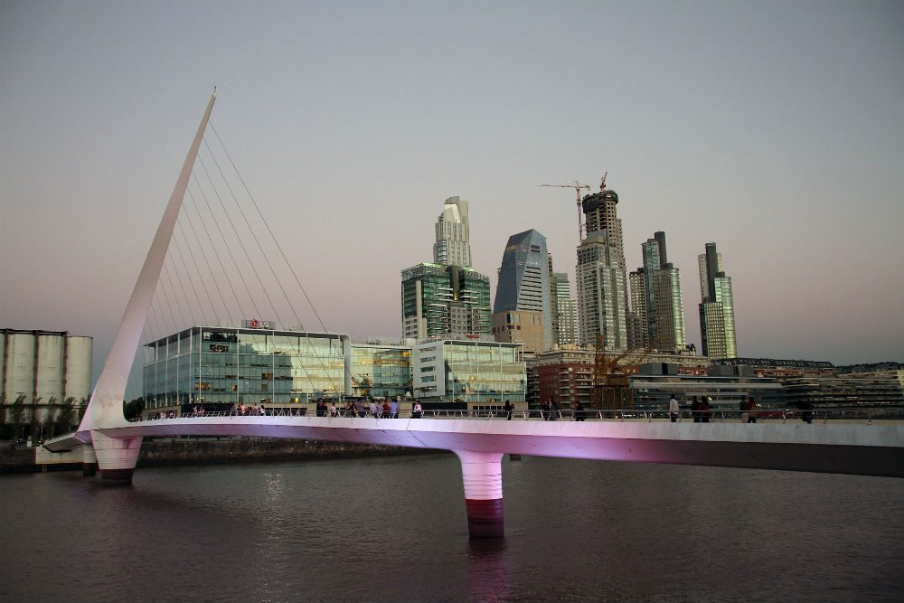 Santiago Calatrava designed the Women's Bridge in the Puerto Madero district of Buenos Aire