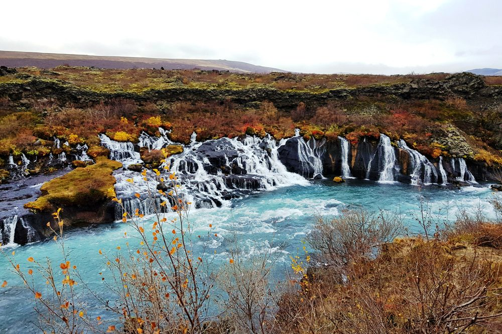 Hraunfossar waterfall, Iceland.
