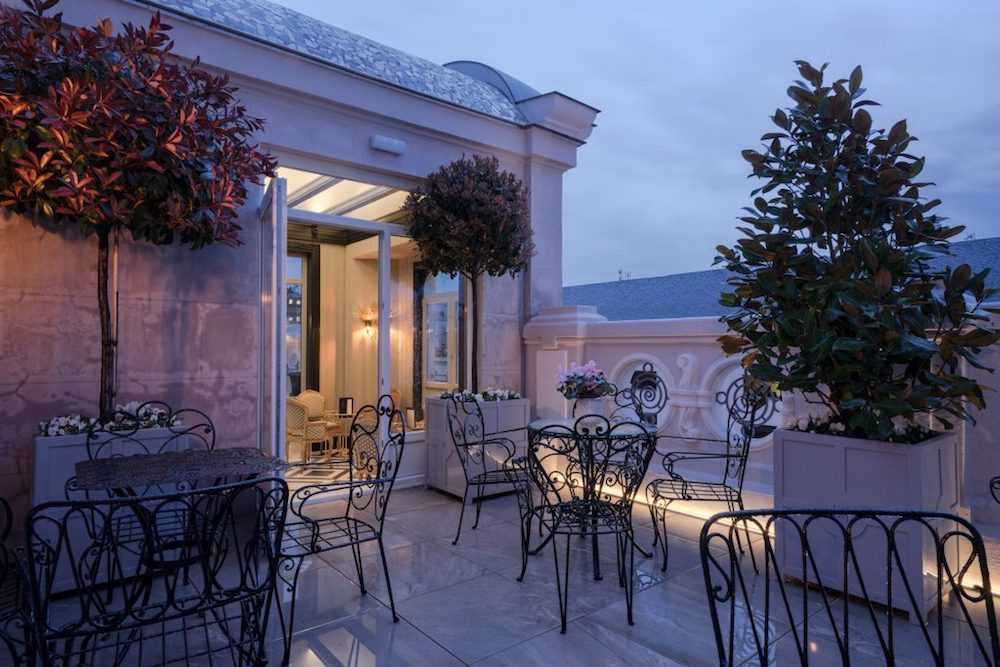 rooftop bar at Heritage madrid hotel spain