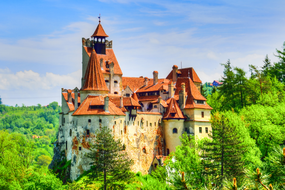 Legendary Bran (Dracula) historical castle of Transylvania, Brasov region, Romania, Eastern Europe