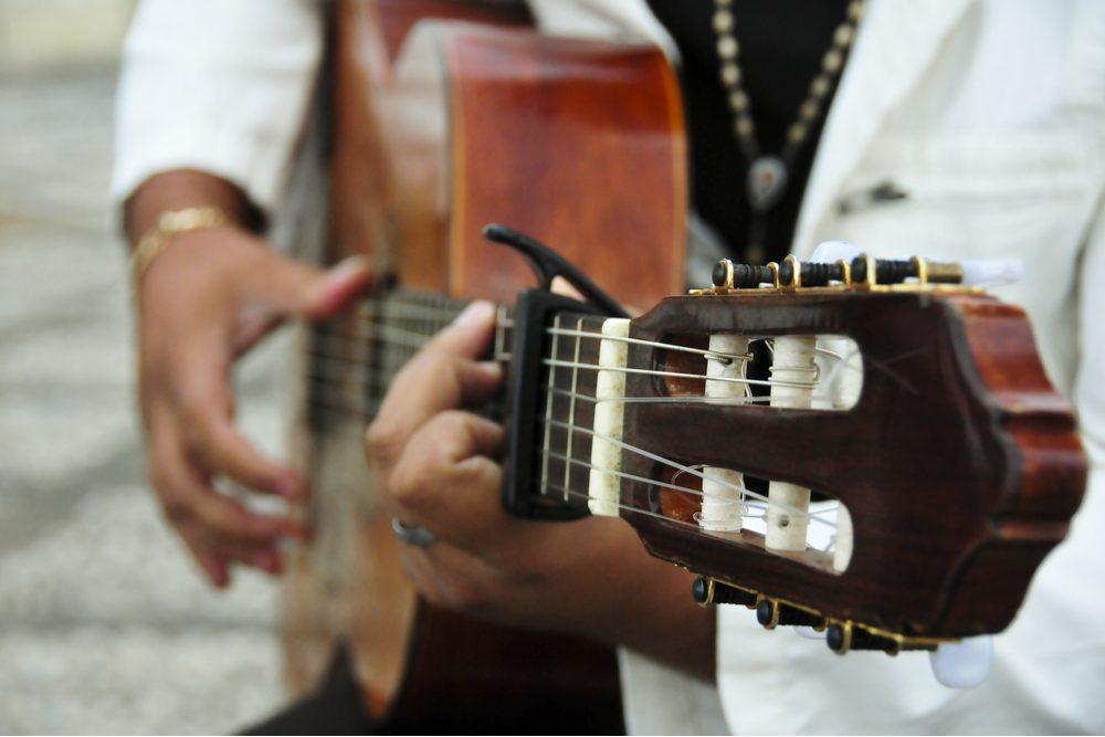 Man playing the Spanish guitar - Image