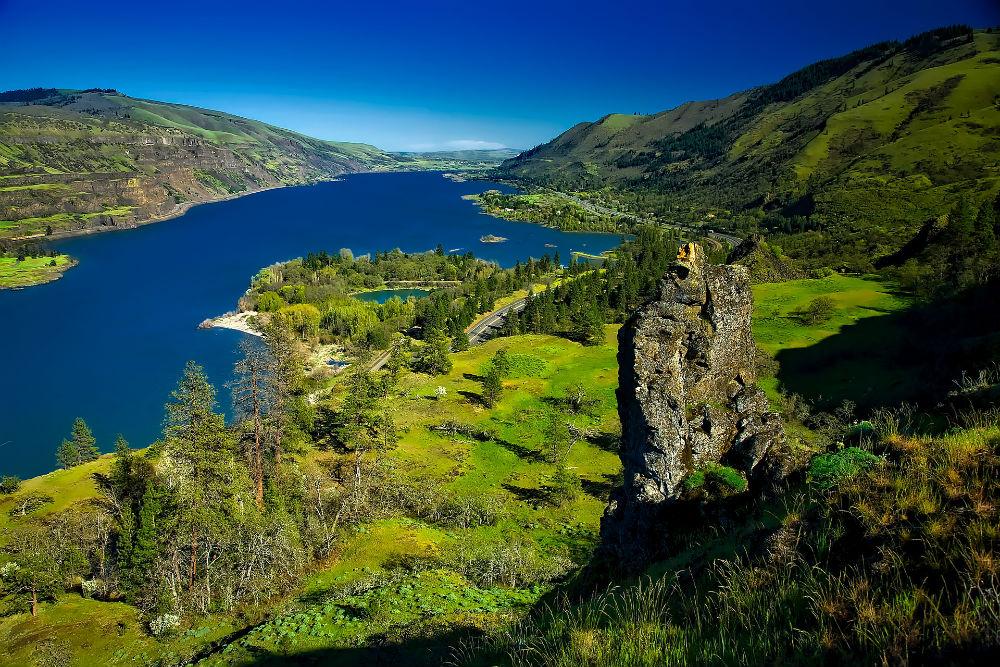 The Columbia River in Oregon