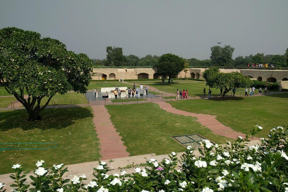 The gardens at Raj Ghat, a memorial to Mahatma Gandhi