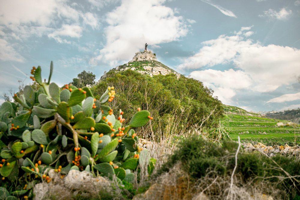 gozo island green hills scenery in Maltese archipelago