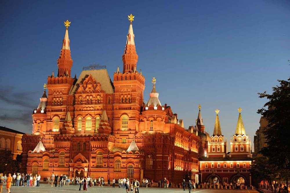 history museum in red square moscow russia