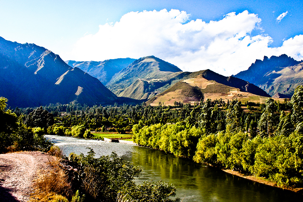 Peru's Sacred Valley mountains and rivers