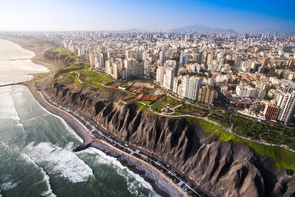 Panoramic view of Lima from Miraflores