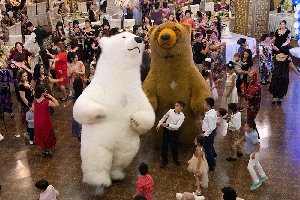 Giant dancing bears delighted young and old.