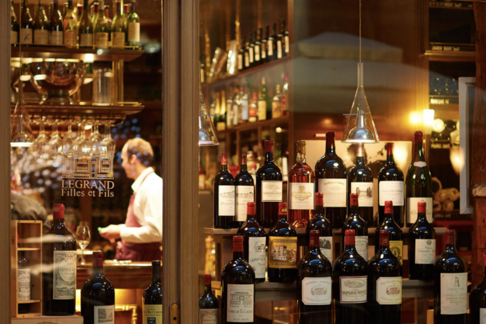Caves Legrande is one of the oldest wine shops in Paris
