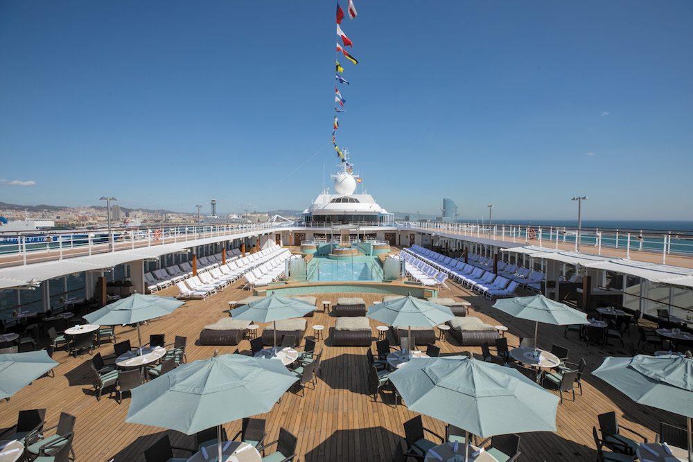 Regent Mariner Cruise Ship Pool Deck