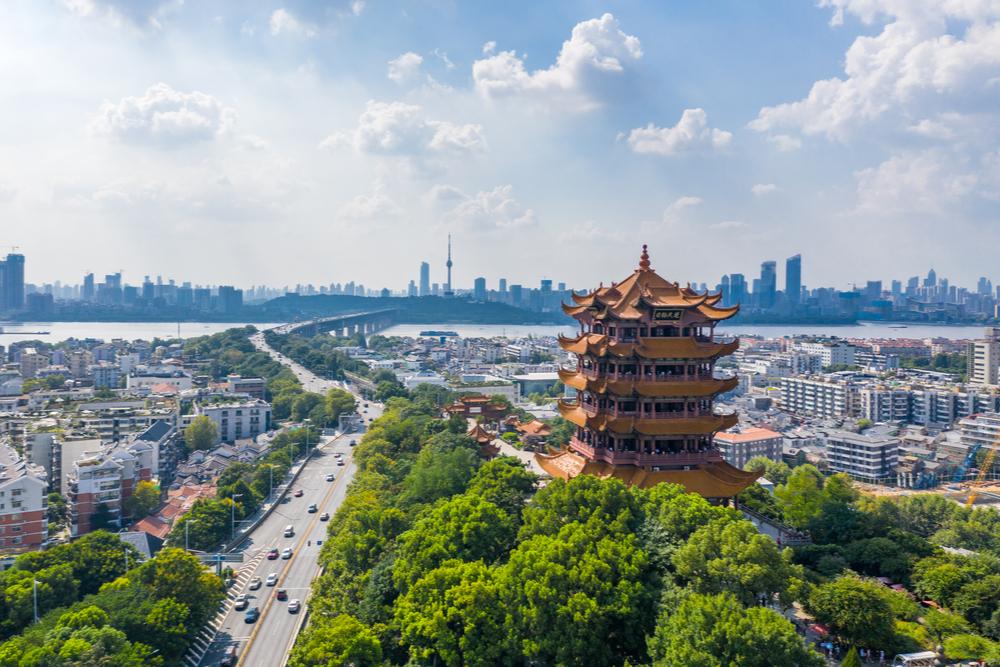 Wuhan China city skyline