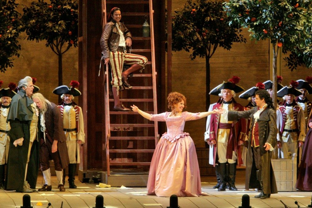 NYC's Metropolitan Opera is presenting videos of its full performances, including Rossini's Il Barbiere di Siviglia