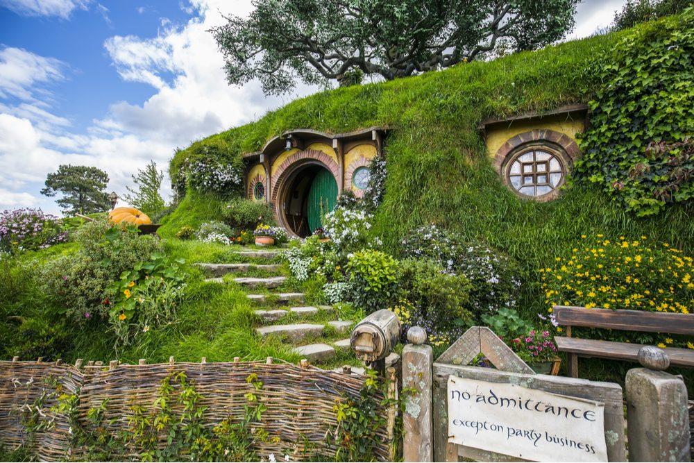 New Zealand - Hobbiton - Movie set - Lord of the rings Bilbo Baggins House