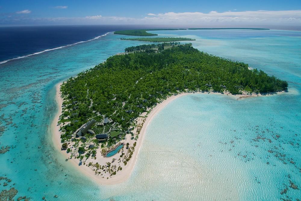 Brando Resort Tahiti aerial overview