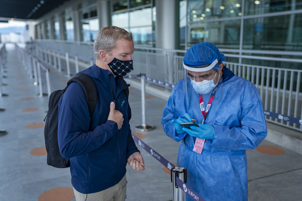 Galapagos airport health checker Expedtiion Trips