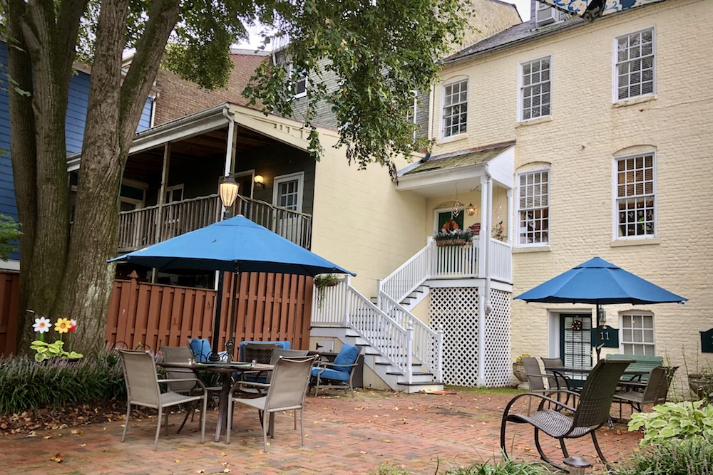 Richard Johnston Inn courtyard Fredericksburg Virginia