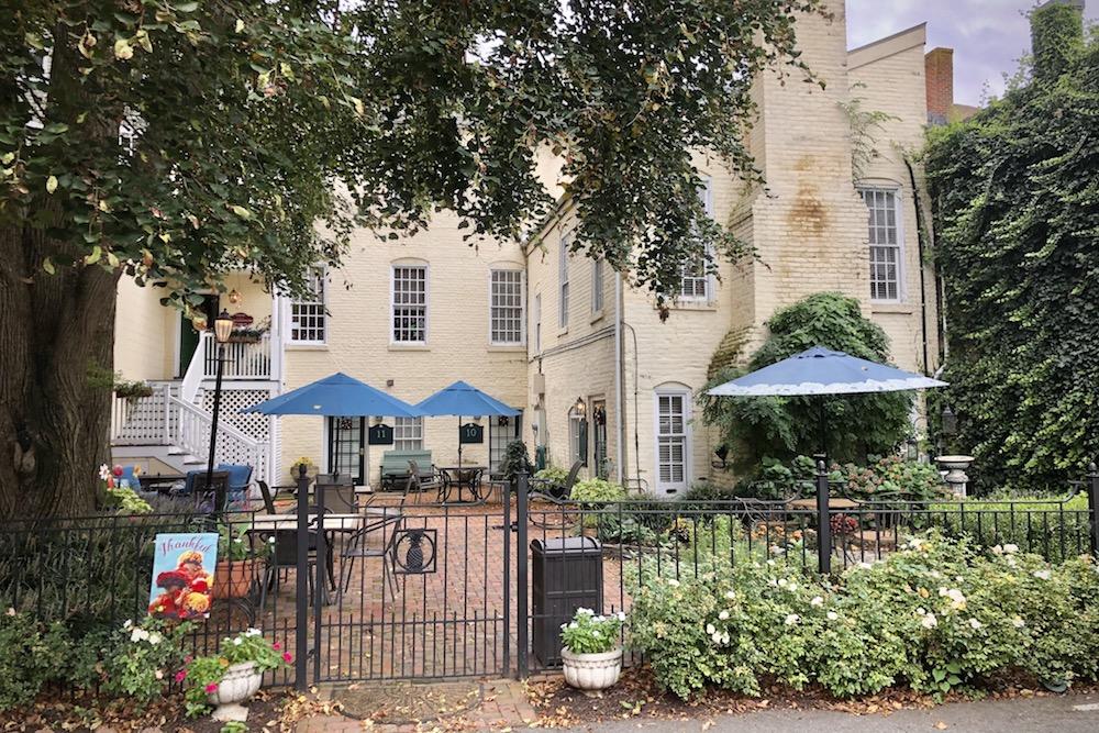 Richard Johnston Inn courtyard Fredericksburg Virginia