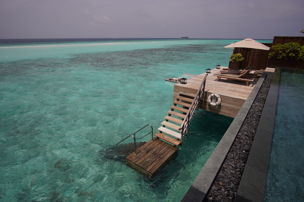 overwater bungalow at Joali resort in the maldives