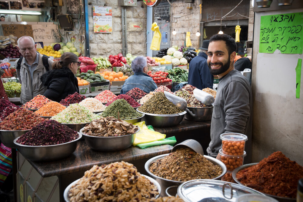 Mahane Yehuda Market dried fruit tea vendor