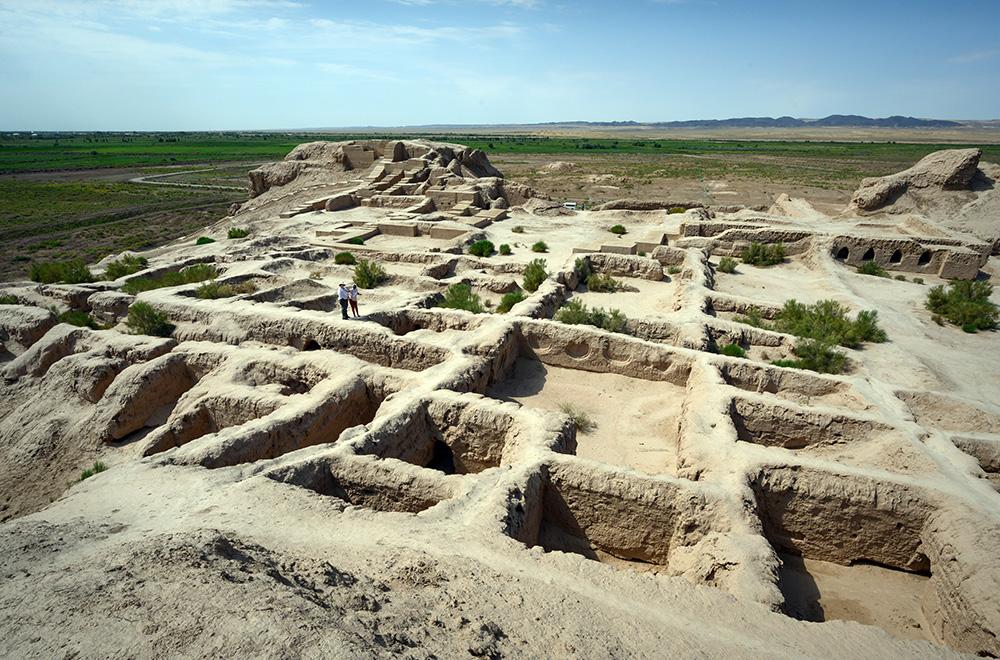 Toprak Kala palace ruins Uzbekistan