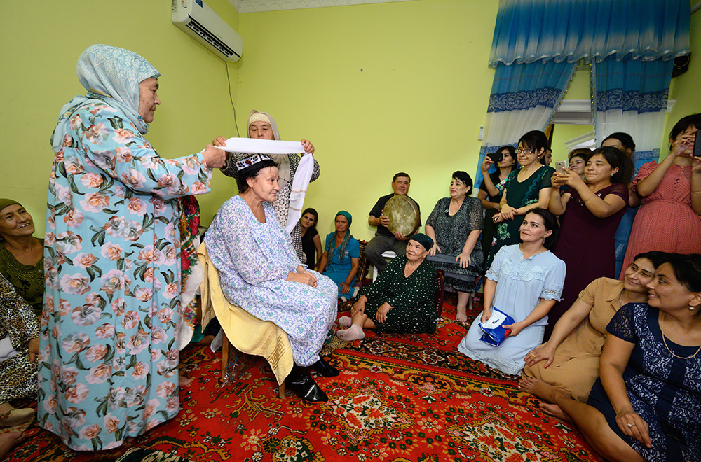Uzbekistan local family birthday party