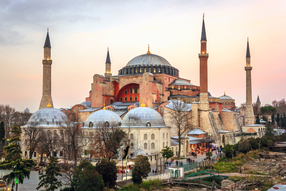 Hagia Sophia is the largest church built by the Eastern Roman Empire in Istanbul, Turkey