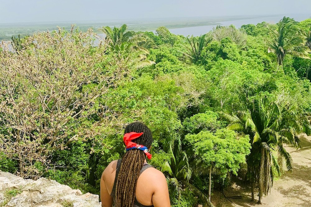 On top of High Temple - Lamanai Belize