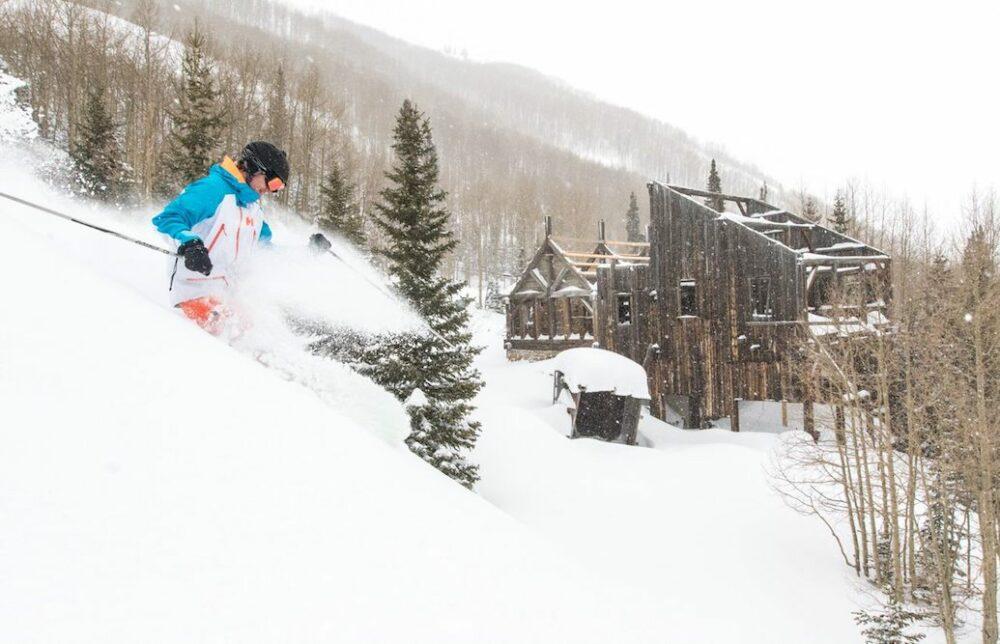 person skiing in Park City Mountain Utah