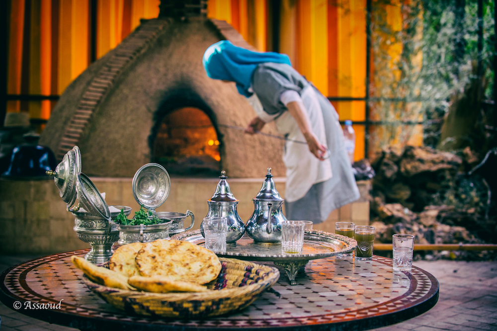 Morocco -- Warm bread fresh from the oven and mint tea