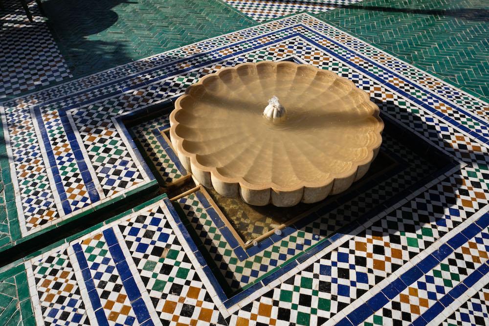 Morocco tiled fountain