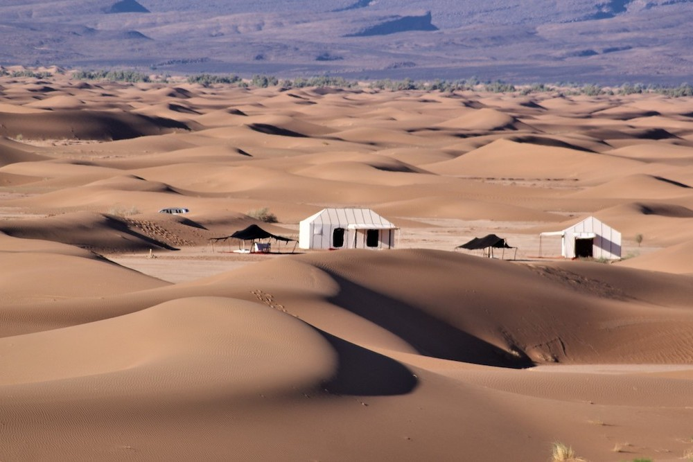 Erg Chigaga luxury desert camp in the Sahara Morocco