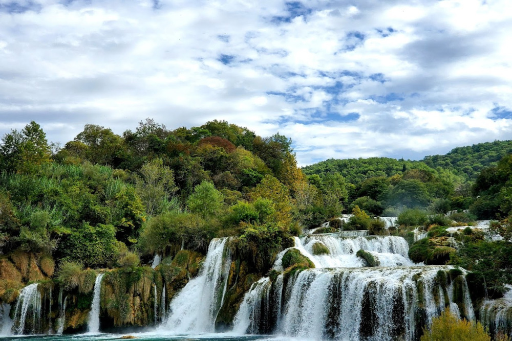 waterfalls at Krka National Park, Lozvac, Croatia.