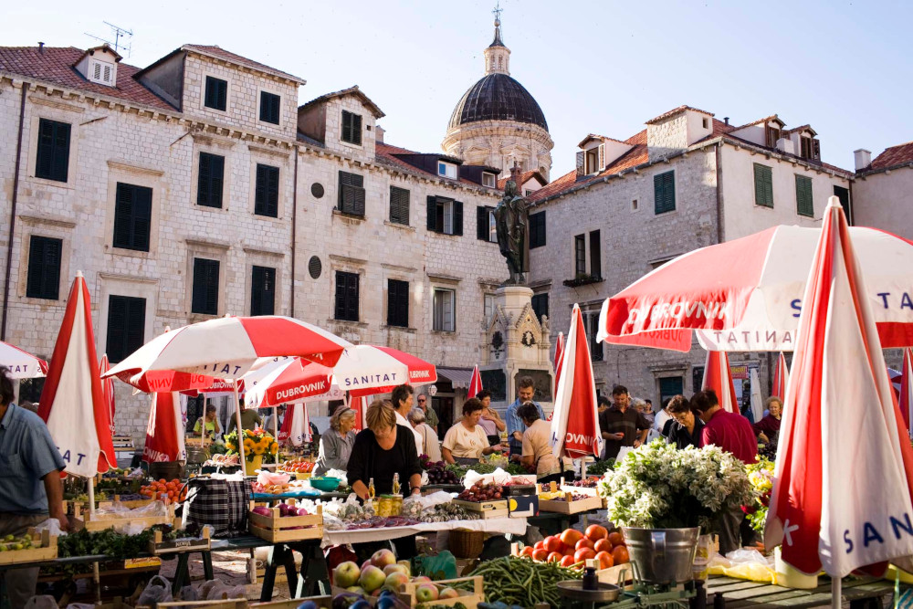 Open air food Market, Dubrovnik