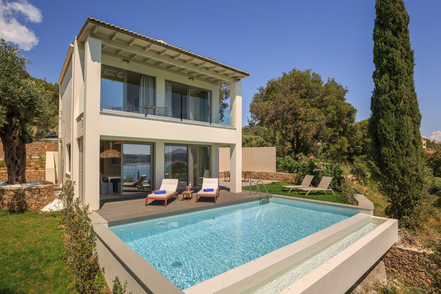 private pool villa at Rodostamos Hotel Corfu Ionian Islands Greece