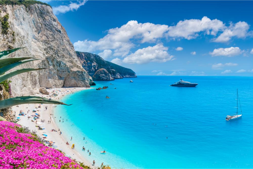Porto Katsiki beach on Lefkada Ionian Islands Greece