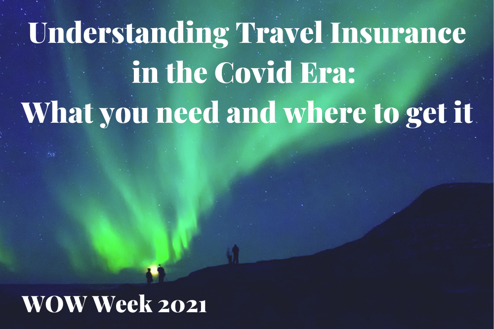 northern lights background with text that reads Understanding Travel Insurance in the Covid Era