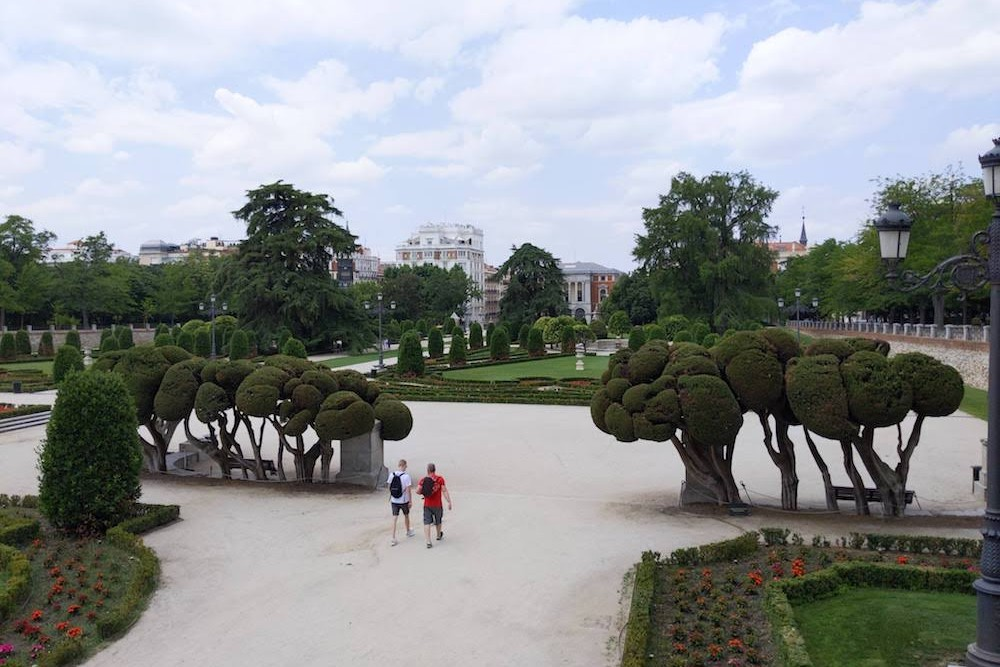 Madrid Spain Parque de El Retiro formal gardens