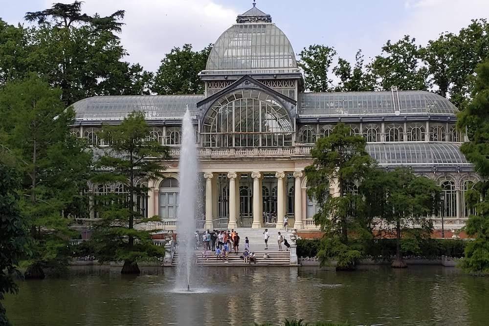 Madrid Spain Parque de El Retiro glass house