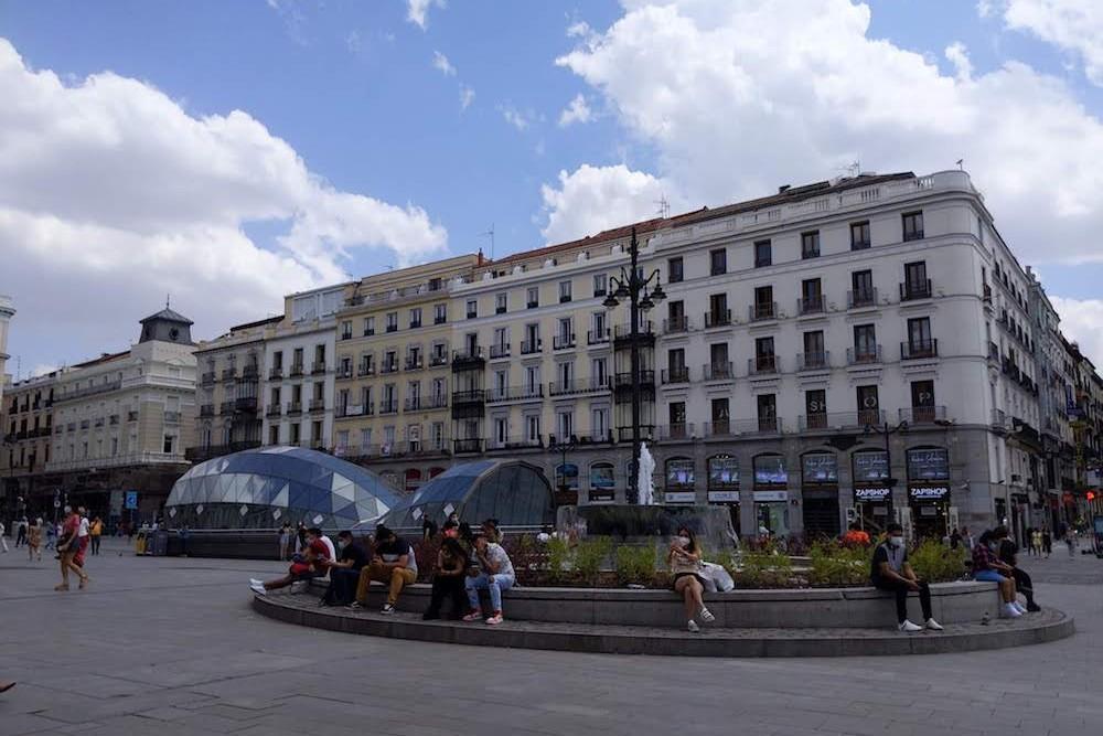 Madrid Spain Puerta del Sol outdoor scene