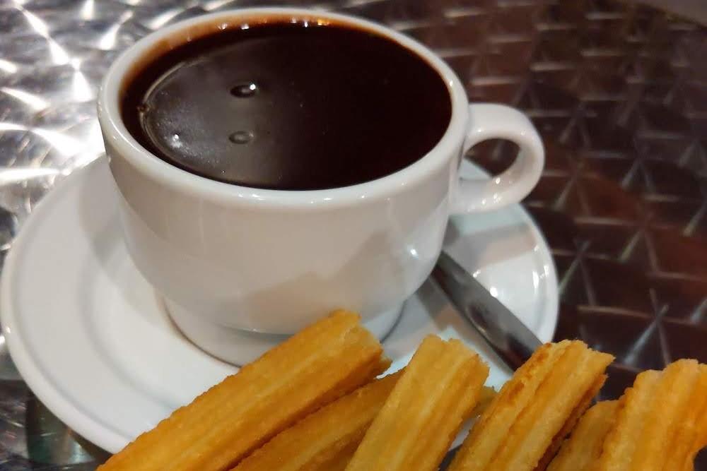 Madrid Spain San Gines chocolate and churros